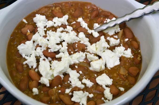Pinto Beans & Goat Cheese